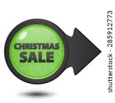christmas sale circular icon on ... | Shutterstock . vector #285912773