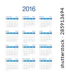2016 european calendar | Shutterstock .eps vector #285913694