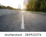 urban road with sunset   Shutterstock . vector #285922376