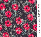 colorful batik seamless pattern ... | Shutterstock . vector #285931526