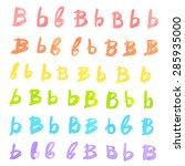 hand written colorful ink... | Shutterstock .eps vector #285935000