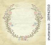 spring flower laurel branches.... | Shutterstock .eps vector #285962510