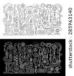music workshop abstract art... | Shutterstock .eps vector #285963140