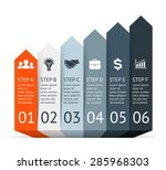 vector arrows infographic.... | Shutterstock .eps vector #285968303
