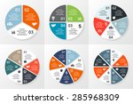 vector circle infographics set. ... | Shutterstock .eps vector #285968309