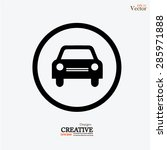 car .car icon. vector... | Shutterstock .eps vector #285971888