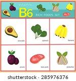 vitamin b6 rich foods set... | Shutterstock .eps vector #285976376