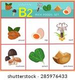 vitamin b2 rich foods set... | Shutterstock .eps vector #285976433