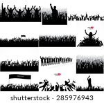 posters from the crowd of... | Shutterstock .eps vector #285976943