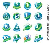 large set of vector logos... | Shutterstock .eps vector #285981290