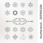 sacred geometry. alchemy ...   Shutterstock .eps vector #285983186