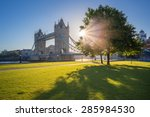 sunrise at tower bridge with... | Shutterstock . vector #285984530