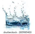 water splash isolated on white... | Shutterstock . vector #285985403