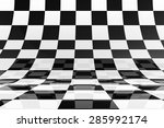 3d Rendered Glossy Chessboard...