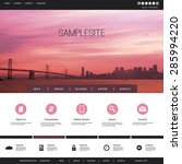 one page website template with... | Shutterstock .eps vector #285994220