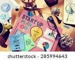 startup goals growth success... | Shutterstock . vector #285994643