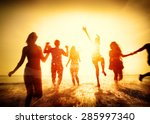 friendship freedom beach summer ... | Shutterstock . vector #285997340
