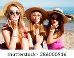 tree best friend girls having ... | Shutterstock . vector #286000916