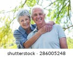 happy old couple smiling in a... | Shutterstock . vector #286005248