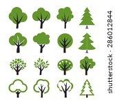 set of vector tree | Shutterstock .eps vector #286012844
