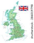 united kingdom   detailed... | Shutterstock .eps vector #286019798