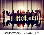 meeting seminar conference... | Shutterstock . vector #286022474
