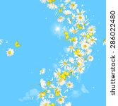 breeze of daisies and...   Shutterstock . vector #286022480