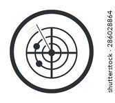 radar icon vector.   Shutterstock .eps vector #286028864