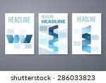 template. vector brochure... | Shutterstock .eps vector #286033823