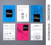 template. vector brochure...   Shutterstock .eps vector #286033838