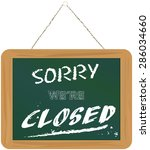 store sign closed on black... | Shutterstock .eps vector #286034660