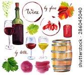 Watercolor Wine Set  A...