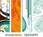 four elements vertical banners  ... | Shutterstock .eps vector #28604890