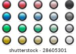 set of elegant web buttons | Shutterstock .eps vector #28605301