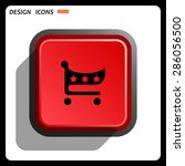 put in shopping cart. icon.... | Shutterstock .eps vector #286056500