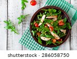 fresh salad with chicken breast ... | Shutterstock . vector #286058750