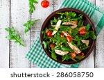 fresh salad with chicken breast ... | Shutterstock . vector #286058750