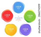 set of round colorful vector... | Shutterstock .eps vector #286074599