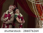 portrait of happy young couple... | Shutterstock . vector #286076264