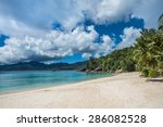 tropical island beach  source d'... | Shutterstock . vector #286082528