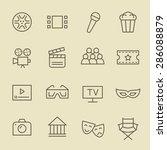 cinema line icon set | Shutterstock .eps vector #286088879