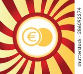 yellow icon with image of euro...