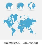 world map | Shutterstock . vector #286092800