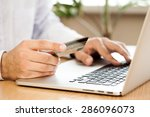 e commerce  credit card ... | Shutterstock . vector #286096073