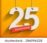 25 anniversary numbers with... | Shutterstock .eps vector #286096328