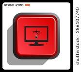 quadrocopter. icon. vector... | Shutterstock .eps vector #286107740