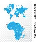world map | Shutterstock . vector #286108688