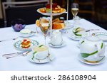 beautiful table setting with... | Shutterstock . vector #286108904