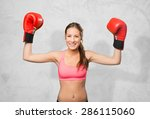 young woman wearing gym clothes.... | Shutterstock . vector #286115060