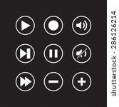 modern media icons   vector for ... | Shutterstock .eps vector #286126214